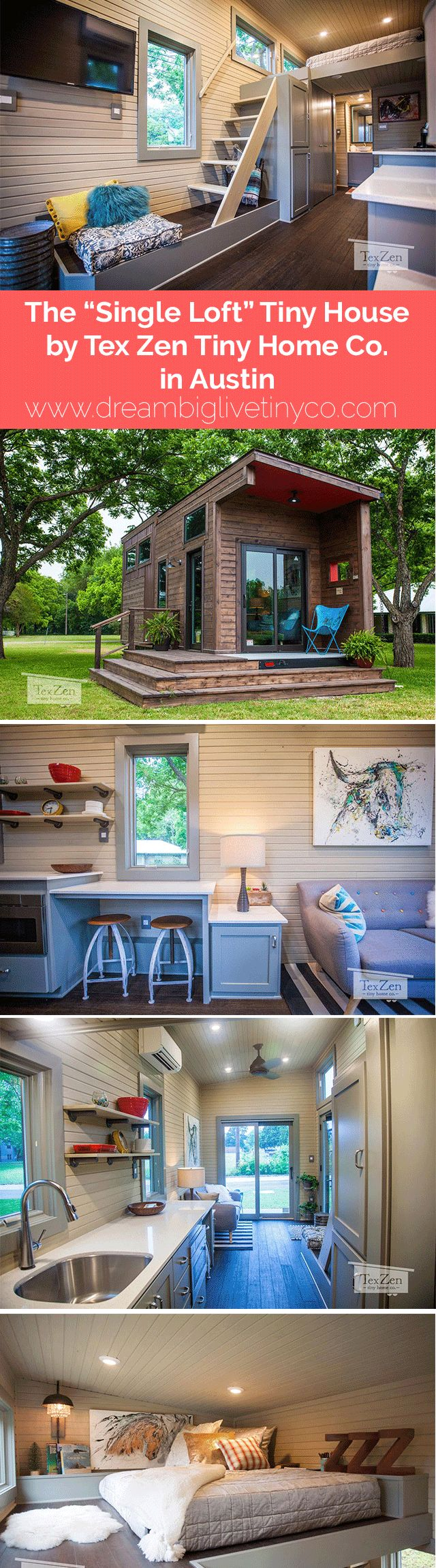 "The ""Single Loft"" Tiny House by Tex Zen Tiny Home Co. in Austin"