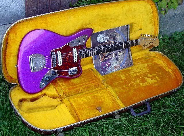 1962 Fender Jaguar guitar in Purple Sparkle