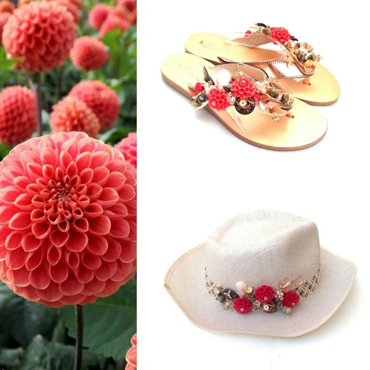 Do you like Dahlia flower....? It brings the meaningful blessings and messages of enduring grace. A symbol of inner strength, creativity and standing strong! Available now! New Summer Collection only @bonbonsandals !! #bonbonsandals #dahlia #coral #rosegold #flowers #flipflop #hat #newcollection #summer2016 #innerstrength