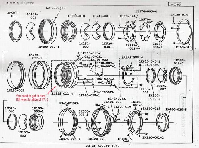 Lens Schematic (50mm f1.4