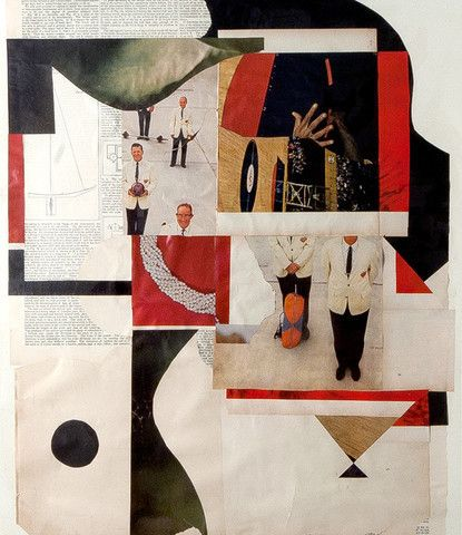 John Whitlock: Meeting of the Minds, 2012 www.kidsofdada.com/products/meeting-of-the-minds-2012 #art #geometric #collage