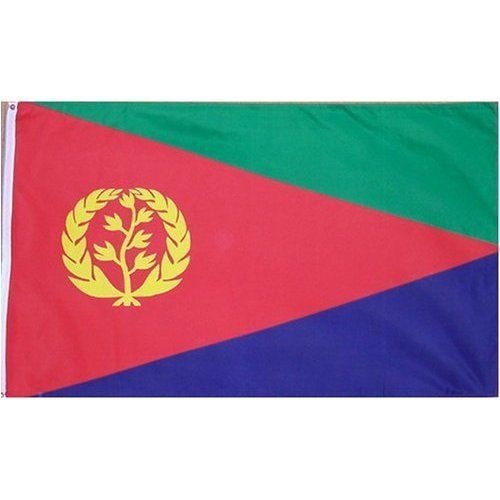Eritrea Flag Polyester 3 ft. x 5 ft. by www.usflags.com. $12.48. Durable Polyester Material. Made To United Nations Specs. 3 x 5 ft Polyester flag with 2 brass grommets. These polyester flags not recommended for prolonged outdoor use. For outdoor use, we recommend our nylon flags.