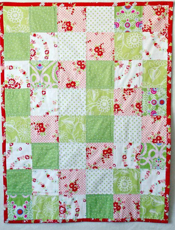 Quilt Baby Quilt Patchwork Blanket Baby Girl Quilt