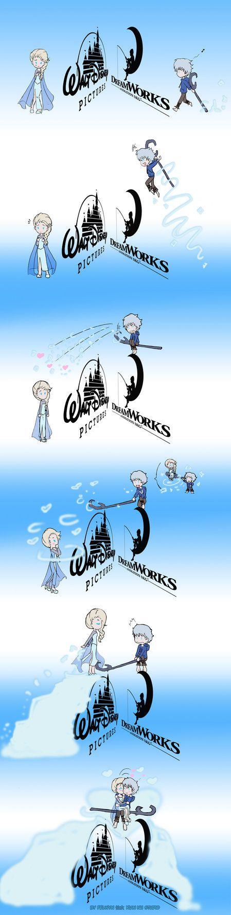 Fanart JELSA (Jack Frost & Elsa — El origen de los Guardianes & Frozen). La única frontera entre estos personajes la marca las compañias, no los fans. Para el fandom, El...