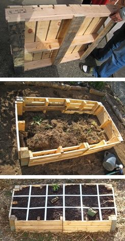 pallet garden. Where do I get some pallets! outdoors: Gardens Ideas, Gardens Boxes, Pallets Gardens, Raised Beds, Raised Gardens Beds, Black Gold, Pallets Ideas, Rai Beds, Pallets Projects