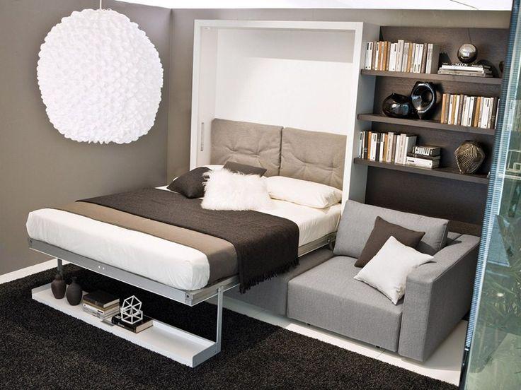 Mueble modular de pared con cama abatible Colección Swing by CLEI | diseño Pierluigi Colombo