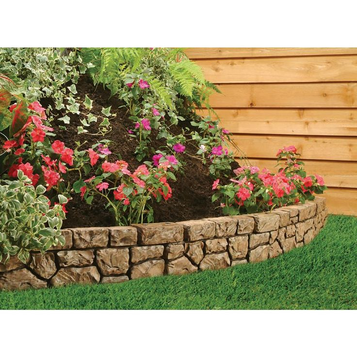 Dalen products 6 in x 10 ft tan stone wall bordere410