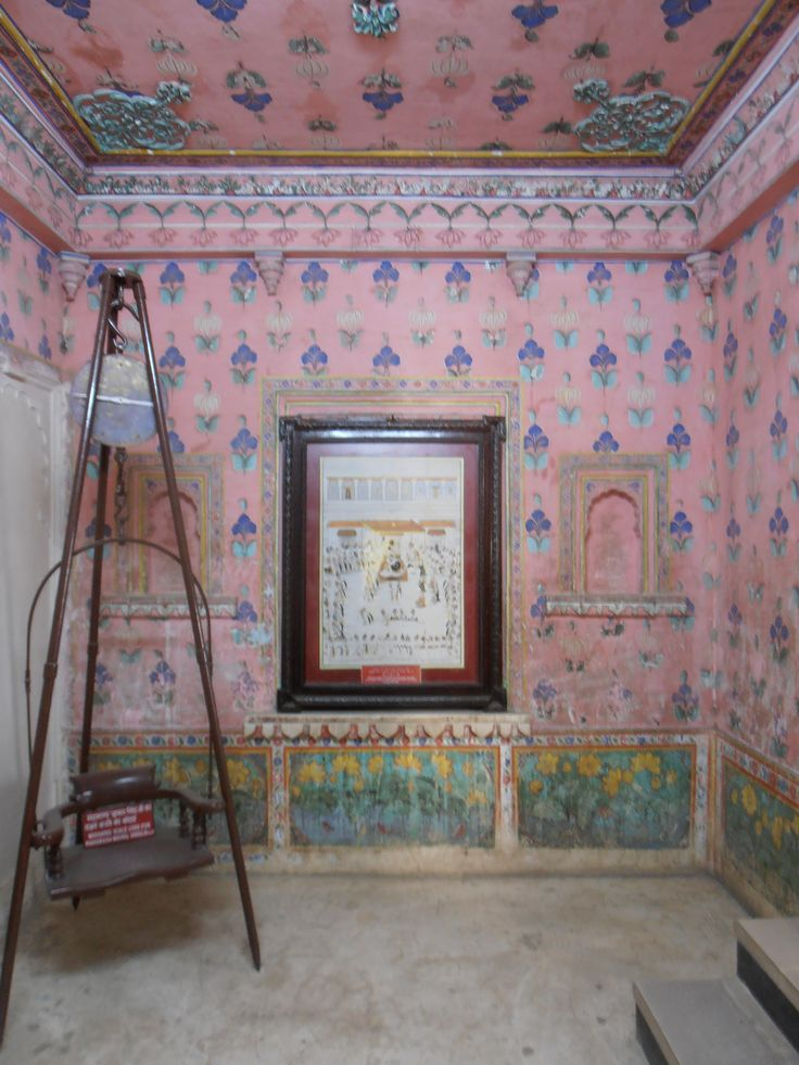Painted room, Udaipur Palace, Rajasthan, India