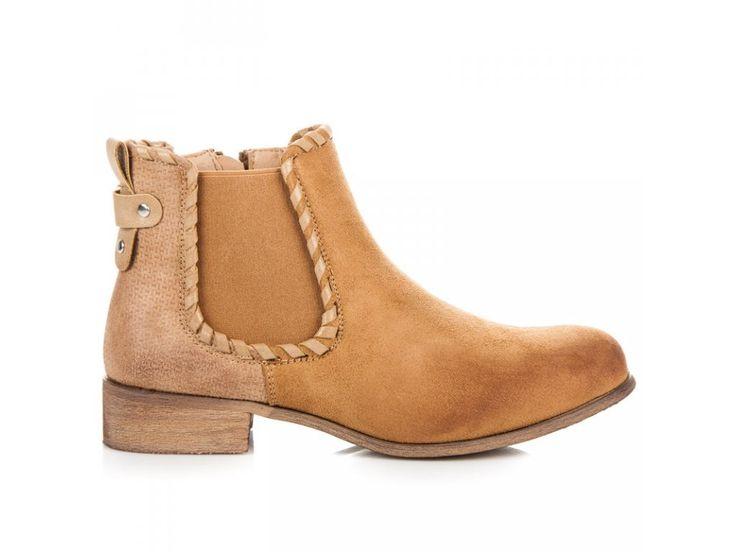 Hnedé členkové topánky Lenka