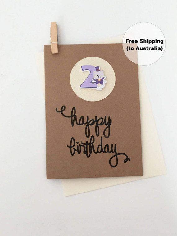 2nd Birthday Card – 2nd Happy Birthday Card – Age 2 Happy Birthday Card – Second Happy Birthday Card – Happy 2nd Birthday Card