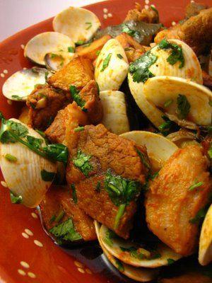 """Portuguese Delights: """"Carne de Porco à Alentejana"""". Follow My Pinterest: @vickileandro"""