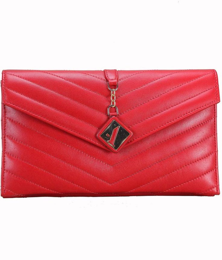 Adamis Red Leather Clutch