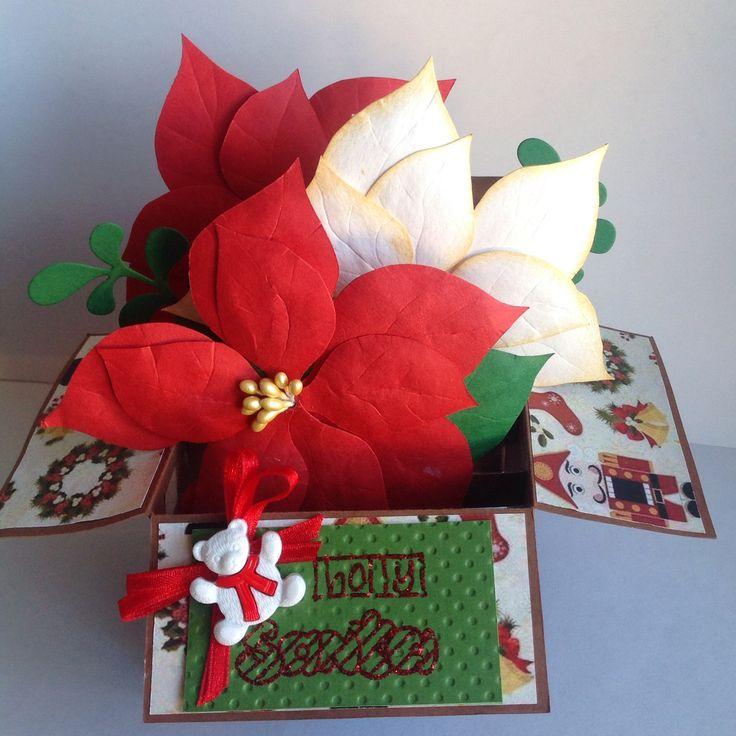Tarjeta navideña en caja