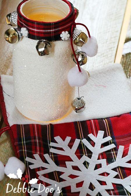 Winter Recycled jar craft