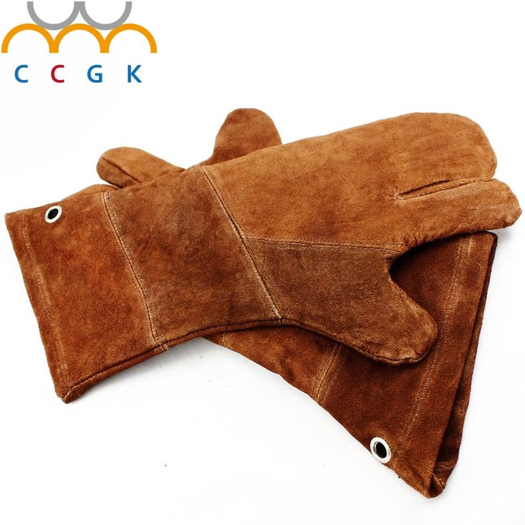 22.96$  Buy here - New Cowhide gas cutting Welding 3 fingers Gloves TIG MIG MAG Arc High Temperature Wear-Resistant Work Labor Protection GLOVES  #aliexpress