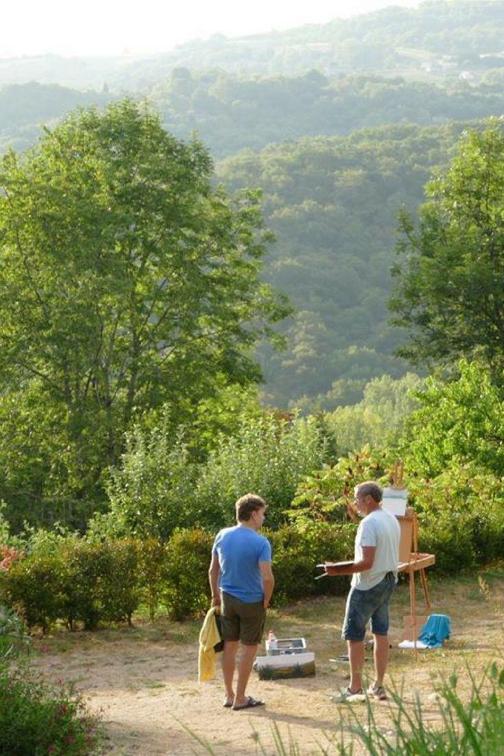 frankrijkpuur.nl   Camping Hermitage Rochas Couchaud, Limousin, Corrèze, Frankrijk. Voor volwassenen, uitzicht, table d'hôtes, Nederlandse eigenaren, zwembad, fietsverhuur. #camping #aquitaine #frankrijk #minicamping