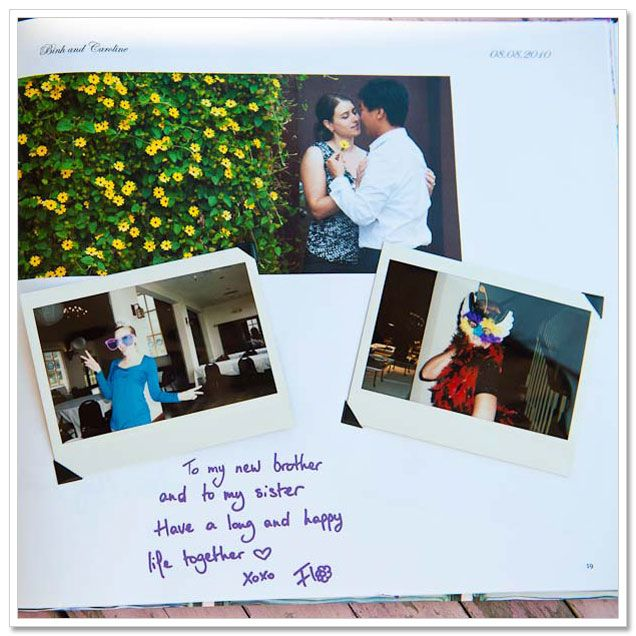 DIY Wedding Guest Book With Instant Film