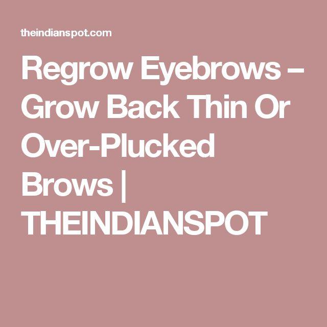 how to make your eyebrow hair grow