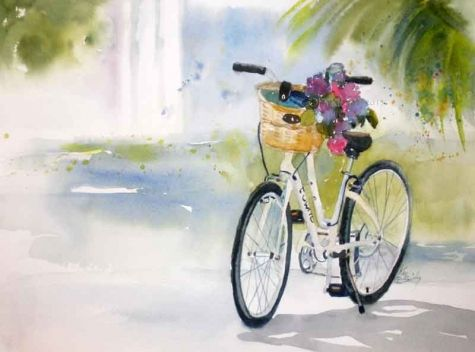 1000 images about watercolor cars bikes on pinterest for Bicycle painting near me