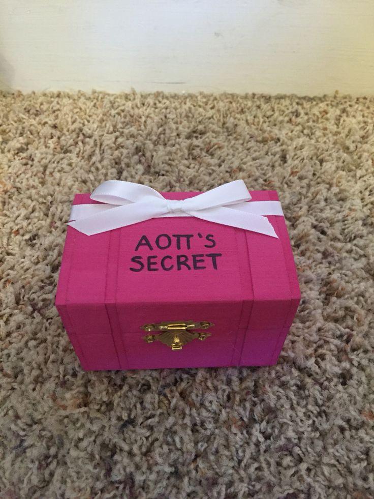 Victoria's Secret themed sorority pin box