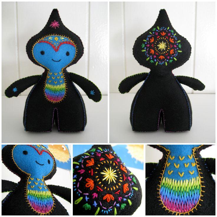 star man | felt, embroidery floss