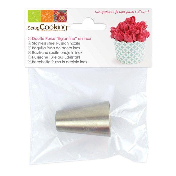 Douille en inox Scrapcooking pour réaliser des glacages en forme de fleurs, plus précisement des églantines sur vos pâtisseries - Youdoit.fr