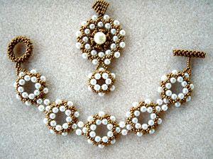 """Schéma du Bracelet """"Dansons la Capucine"""" de La Bijoutisse"""