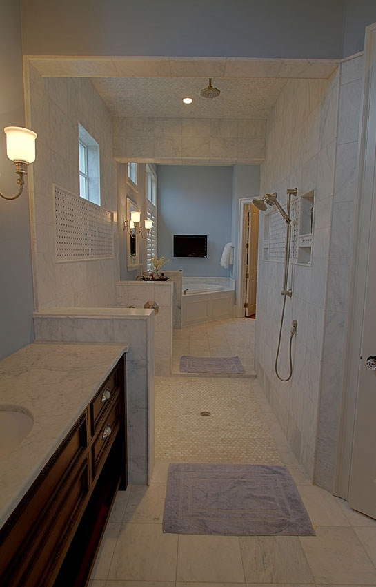 Walk through shower design pictures joy studio design for House plans with walk through shower