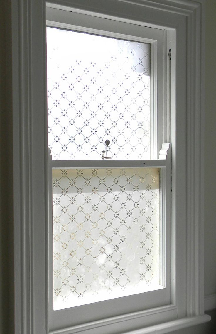 Victorian Style Etched Glass Window Window Treatment