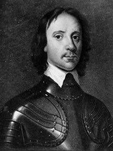 Oliver Cromwell , Protector of England who led his 'Ironsides' in the English Civil War against the 'Roundheads' of King Charles I. Cromwell's victories enabled him to have the King tried and beheaded, after which he established a republic .Born on this day 25th April, 1599