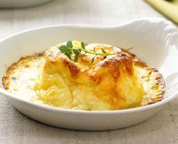 Twice-baked Cheese Souffle Recipe #Cheese #Souffle #Recipe