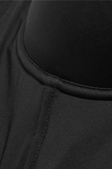 Cosabella - Matte-satin And Stretch-mesh Plunge Bra - Black - 32D