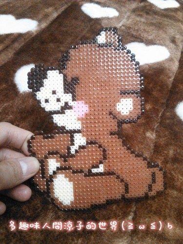 Teddy bear hama perler beads