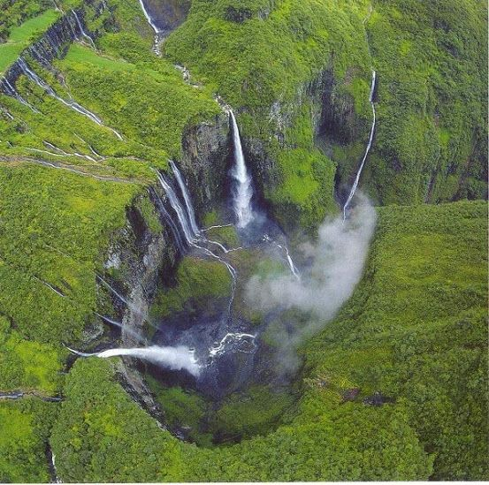 Trou de Fer (Iron Hole) is a canyon on Reunion Island, off the coast of Madagascar in the Indian Ocean.