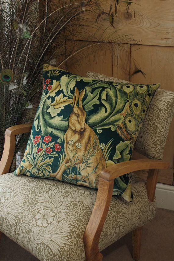 William Morris Large Forest Velvet Cushion Covers Set of 2