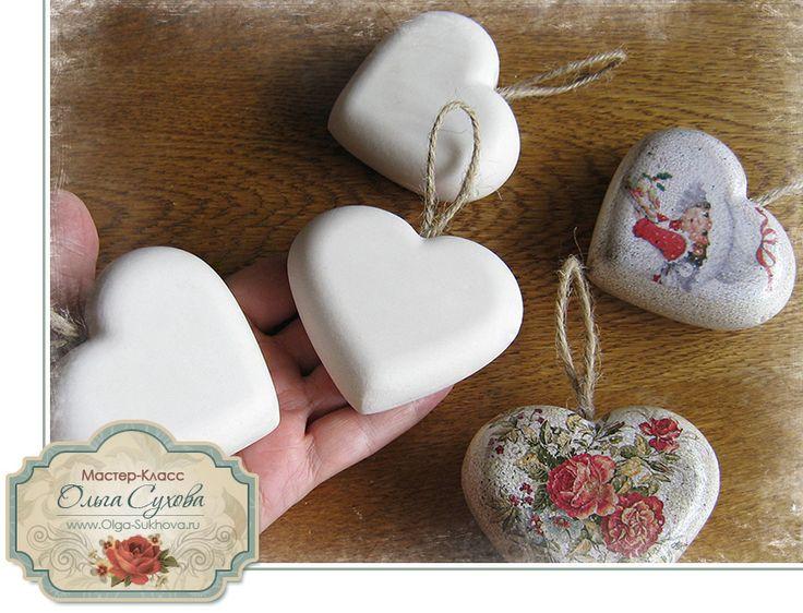 Мастер класс - как сделать заготовку для ёлочной игрушки-сердечка из гипса. Обсуждение на LiveInternet - Российский Сервис Онлайн-Дневников