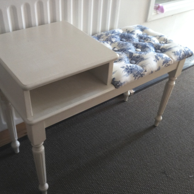 Restored telephone table