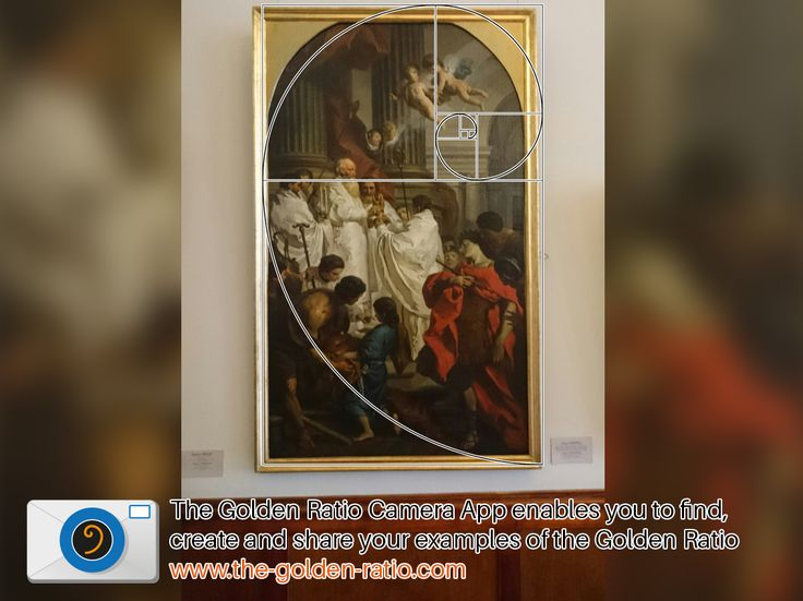 This painting called 'The Mass of St.Basil' hangs in the Hermitage, St Petersburg and clearly fit the Golden Ratio.