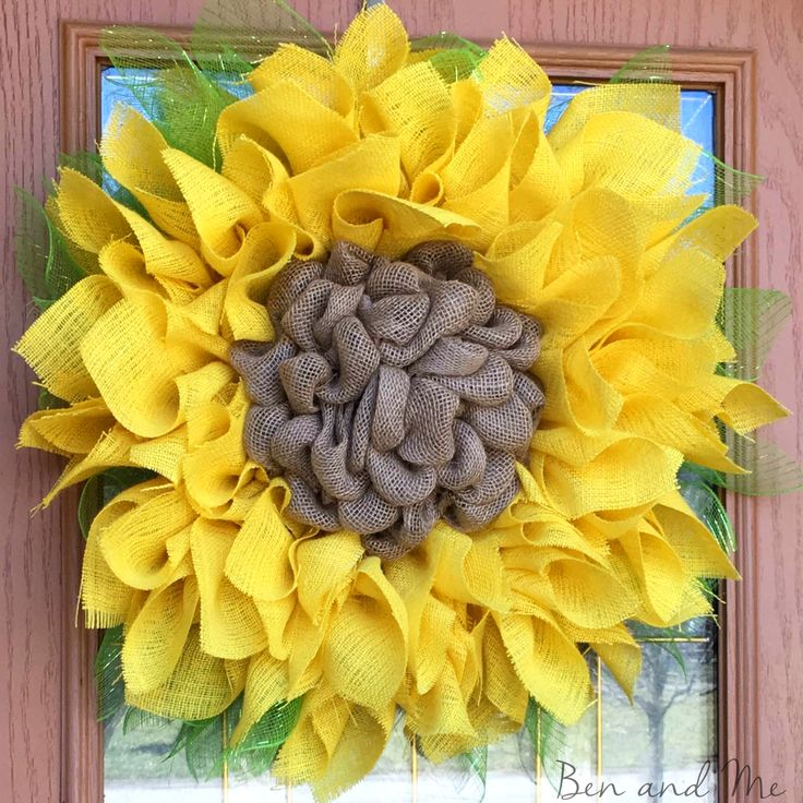 Sunflower wreath giveaway and save 20 on your purchase for Save on crafts burlap