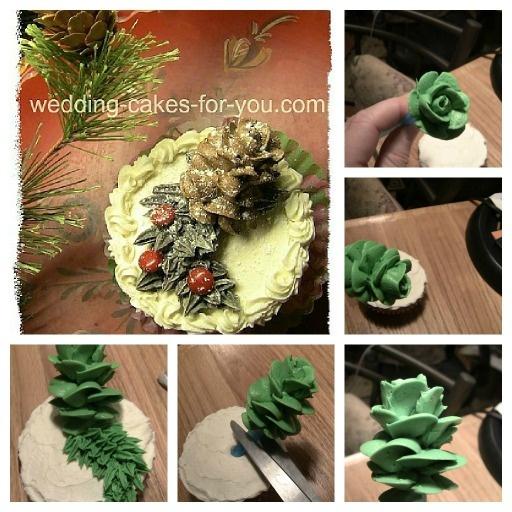 -cakes-for-you.com/christmas-cake-decorating-ideas.html Making a pine ...