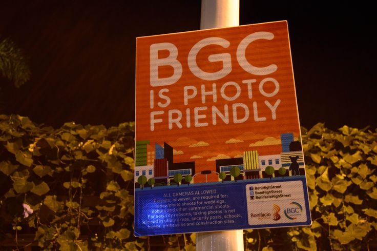 BGC is Photo Friendly Sign