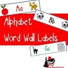 Word Wall Labels with Alphabet Phonics Pictures - Available in three different fonts, for just $3.00.