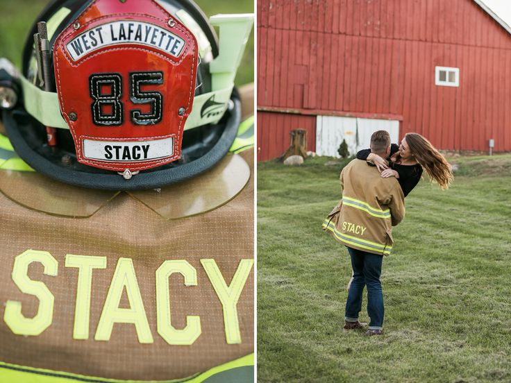 Firefighter Engagement Session Shoot Couple