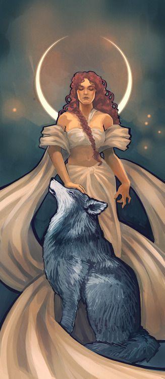 Wolf & Moon Goddess