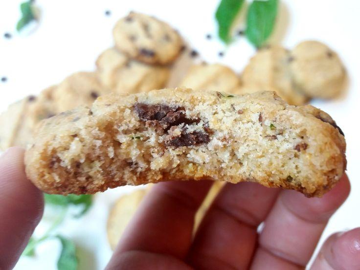Deliciosas Galletas de Menta con Chips de Chocolate #veganas #saludables