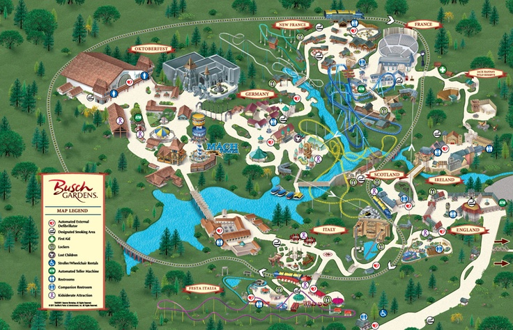 Busch Gardens Willamsburg Va Map World 39 S Most Beautiful Theme Park And Roller Coasters