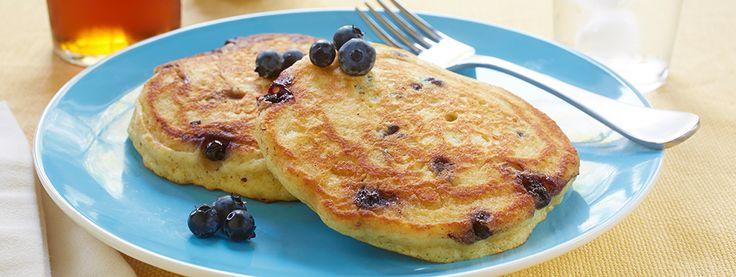 Crêpes aux bleuets et babeurre sans gluten*