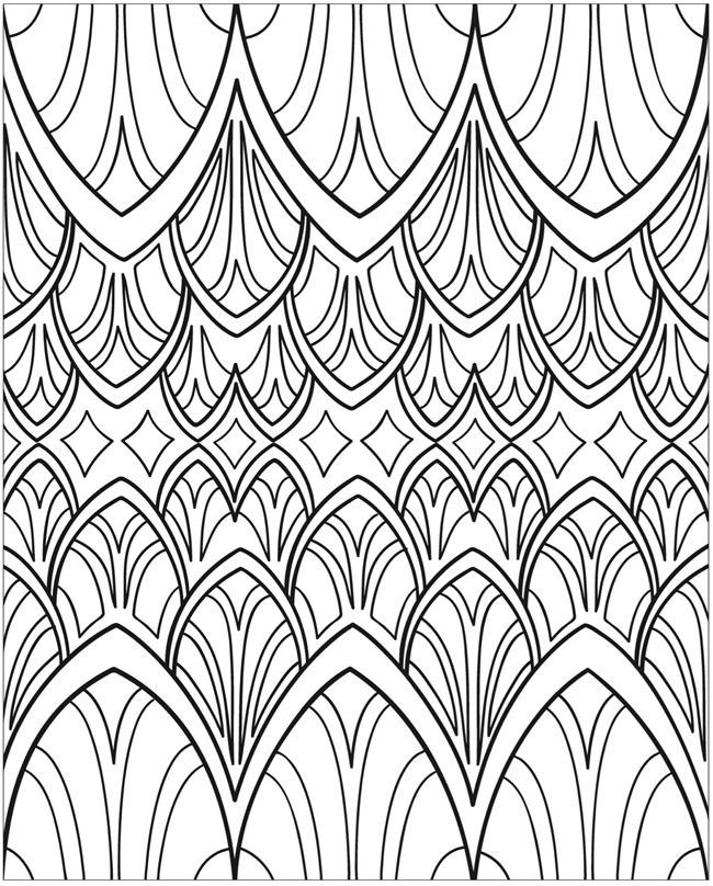 americana folk art coloring pages - photo#13