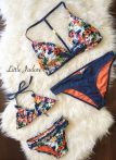 Mommy and me Floral Denim swimsuit