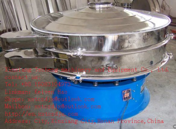 Vibration screening equipment for filtering soy sauce  Commonly known as soy sauce soy sauce, soybean, wheat, salt is mainly composed of oil, after fermentation procedures brewed. The ingredients of soy sauce are complex. Besides the ingredients of salt, there are many kinds of amino acids, carbohydrates, organic acids, pigments and spices